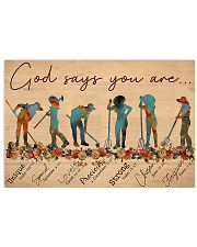Farmer God Says You Are 17x11 Poster front
