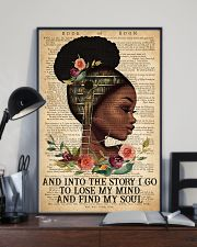 Black Girl - And Into The Story I Go  11x17 Poster lifestyle-poster-2