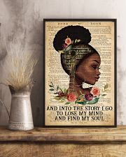 Black Girl - And Into The Story I Go  11x17 Poster lifestyle-poster-3