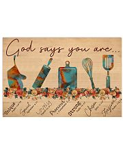 Baking God SAy You Are 17x11 Poster front
