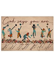 Volleyball - God Says You Are - Female 17x11 Poster front