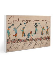Volleyball - God Says You Are - Female Gallery Wrapped Canvas Prints tile