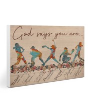 Softball - God Says You Are 15 30x20 Gallery Wrapped Canvas Prints thumbnail