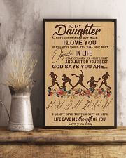To My Daughter God Says You Are - Softball 11x17 Poster lifestyle-poster-3