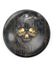 Melting Skull Ornament Circle ornament - single (porcelain) front