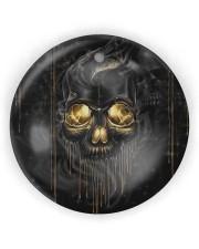 Melting Skull Ornament Circle ornament - single (wood) thumbnail