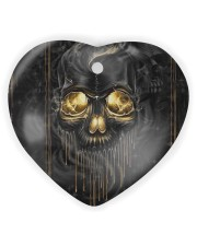 Melting Skull Ornament Heart ornament - single (wood) thumbnail