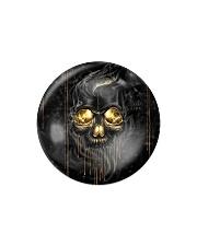 Melting Skull Ornament Circle Magnet thumbnail