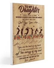 Volleyball - To My Daughter Gallery Wrapped Canvas Prints tile