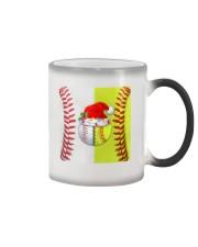Baseball - Softball - Holiday Tote Bag Color Changing Mug tile