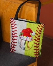 Baseball - Softball - Holiday Tote Bag All-over Tote aos-all-over-tote-lifestyle-front-02