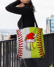 Baseball - Softball - Holiday Tote Bag All-over Tote aos-all-over-tote-lifestyle-front-05