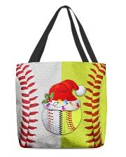Baseball - Softball - Holiday Tote Bag All-over Tote front