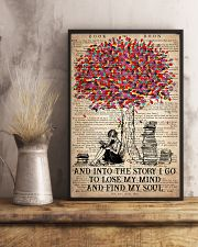 Colorful Tree - And Into The Story I Go  11x17 Poster lifestyle-poster-3