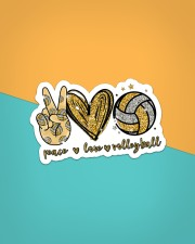 Sticker - Volleyball - Peace Love Volleyball Sticker - Single (Vertical) aos-sticker-single-vertical-lifestyle-front-02