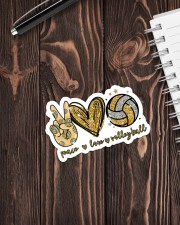 Sticker - Volleyball - Peace Love Volleyball Sticker - Single (Vertical) aos-sticker-single-vertical-lifestyle-front-05