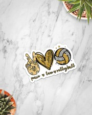 Sticker - Volleyball - Peace Love Volleyball Sticker - Single (Vertical) aos-sticker-single-vertical-lifestyle-front-06