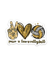 Sticker - Volleyball - Peace Love Volleyball Sticker - Single (Vertical) front