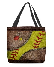 Love Softball All-over Tote front
