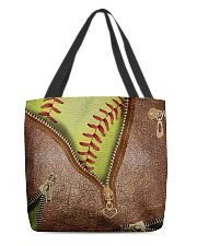 Softball Lovers All-over Tote front