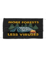 Sticker-Camping - More Forests Less Viruses Mask tile