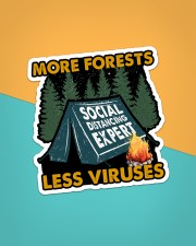Sticker-Camping - More Forests Less Viruses Sticker - Single (Vertical) aos-sticker-single-vertical-lifestyle-front-02