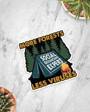 Sticker-Camping - More Forests Less Viruses Sticker - Single (Vertical) aos-sticker-single-vertical-lifestyle-front-06
