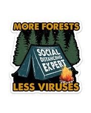 Sticker-Camping - More Forests Less Viruses Sticker - Single (Vertical) front