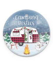 Camping - Besties Round Circle ornament - single (porcelain) front