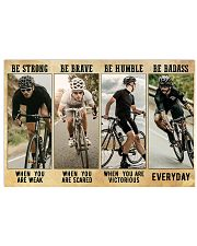 Cycling - Be Strong 17x11 Poster front