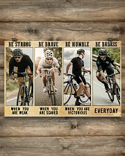 Cycling - Be Strong 17x11 Poster poster-landscape-17x11-lifestyle-14