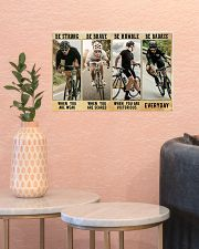 Cycling - Be Strong 17x11 Poster poster-landscape-17x11-lifestyle-21