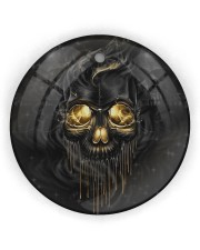 Melting Skull Ornament Circle Ornament (Wood tile