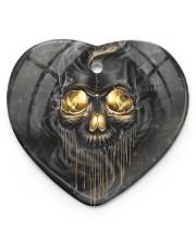 Melting Skull Ornament Heart Ornament (Porcelain) tile
