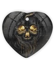 Melting Skull Ornament Heart Ornament (Wood) tile