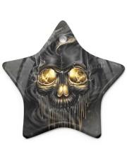 Melting Skull Ornament Star Ornament (Porcelain) tile