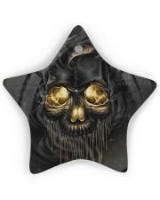 Melting Skull Ornament Star Ornament (Wood) tile