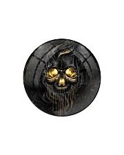 Melting Skull Ornament Circle Magnet tile
