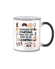 Camping - My Symptoms Color Changing Mug tile