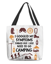 Camping - My Symptoms All-over Tote back