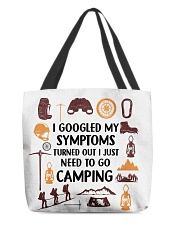 Camping - My Symptoms All-over Tote front