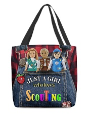 Scout - Just A Girl Who Loves All-over Tote back