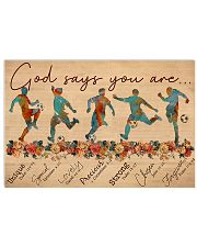 Soccer - God Says You Are - Male 17x11 Poster front