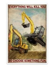 Excavator So Choose Something Fun Sticker - Single (Vertical) thumbnail