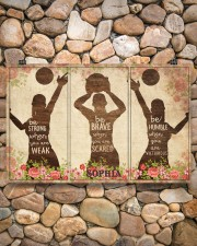 Custom Volleyball Be Strong Poster 17x11 Poster aos-poster-landscape-17x11-lifestyle-15