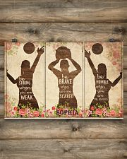 Custom Volleyball Be Strong Poster 17x11 Poster poster-landscape-17x11-lifestyle-14