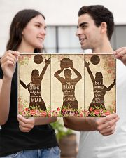 Custom Volleyball Be Strong Poster 17x11 Poster poster-landscape-17x11-lifestyle-20