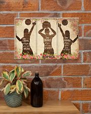 Custom Volleyball Be Strong Poster 17x11 Poster poster-landscape-17x11-lifestyle-23