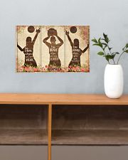 Custom Volleyball Be Strong Poster 17x11 Poster poster-landscape-17x11-lifestyle-24