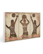Custom Volleyball Be Strong Poster 30x20 Gallery Wrapped Canvas Prints thumbnail